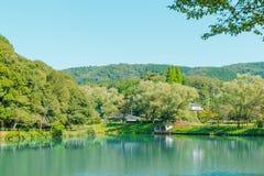 Majestic emerald mountain lake. Landscape Royalty Free Stock Photos