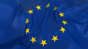 Majestic European Union Flag Stock Photos