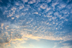 Majestic evening skies Stock Image