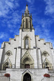 The majestic facade of the Catholic cathedral Stock Photo