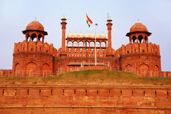 Majestic facade of Red Fort Royalty Free Stock Image