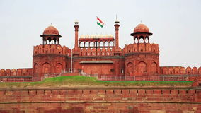 Majestic facade of Red Fort stock video
