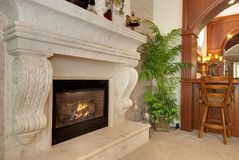 Majestic fire place Stock Photography