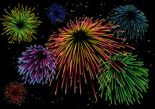 Majestic firework Stock Images