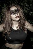 Majestic.Girl.Veni ce carnival mask Close-up female portrait.in Royalty Free Stock Image