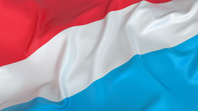 Majestic Glossy Luxembourg Flag Stock Photo