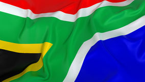 Majestic Glossy South African Flag Royalty Free Stock Photography
