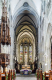 Majestic gothic cathedral interior. Stock Image