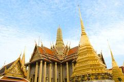 The majestic Grand Palace in Bangkok. Or Wat Phra Keaw Stock Photo