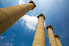 Majestic greek columns Stock Photos