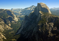 Majestic Half Dome. Imposing morning view of Half Dome (elevation 8,836 ft) from Glacier Point, Yosemite National Park, California Royalty Free Stock Photos