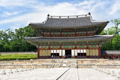 Majestic Hall of Changdeokgung Palace Stock Photos