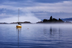 Majestic Harbor. A foggy evening in Grand Marais harbor Royalty Free Stock Image