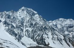 Majestic Himalayan range. Majestic Himalayan range in the Annapurna region Royalty Free Stock Photos