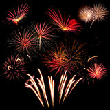 Majestic holiday fireworks Royalty Free Stock Photo