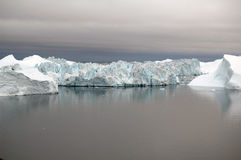 Majestic ice fjord, Greenland Stock Photography