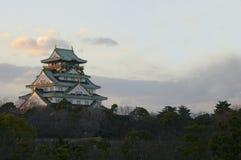 Majestic Image of Osaka Castle Stock Images