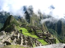 Machu Picchu from the south. royalty free stock image