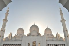 Majestic Inner Dome Towers view of Sheikh Zayed Grand Mosque Royalty Free Stock Photography