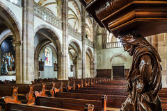 Majestic interior of Abbey-church of Saint Peter and Saint Paul Stock Photography