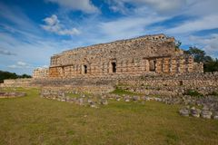 Majestic Kabah ruins ,Mexico. The Kabah Ruins were a shipwreck site located in the Navassa region of the Caribbean Royalty Free Stock Photos