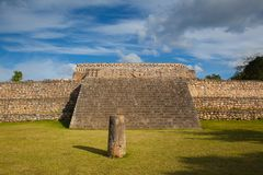 Majestic Kabah ruins ,Mexico. The Kabah Ruins were a shipwreck site located in the Navassa region of the Caribbean Royalty Free Stock Image