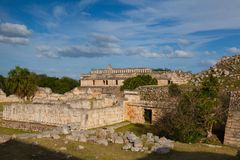Majestic Kabah ruins ,Mexico. The Kabah Ruins were a shipwreck site located in the Navassa region of the Caribbean Stock Image