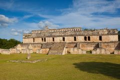 Majestic Kabah ruins ,Mexico. The Kabah Ruins were a shipwreck site located in the Navassa region of the Caribbean Royalty Free Stock Photography