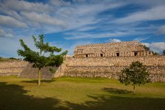 Majestic Kabah ruins ,Mexico. Majestic ruins in Kabah ,Mexico. The Kabah Ruins were a shipwreck site located in the Navassa region of the Caribbean Royalty Free Stock Images