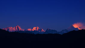 The majestic Kanchenjunga Royalty Free Stock Photography
