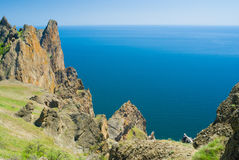 Majestic Karadag - volcanic mountain range Royalty Free Stock Photos