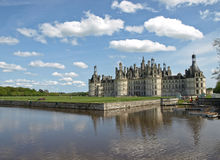 Majestic king castle. Chambord in France Royalty Free Stock Photography