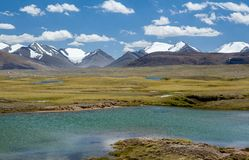 Majestic landscape of Tien Shan mountains Royalty Free Stock Photography