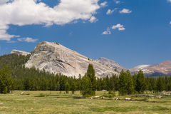 Majestic Lembert Dome. From Tuolomne Meadows in Yosemite National Park Royalty Free Stock Photos