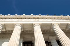 The majestic Lincoln Memorial, Washington D.C, royalty free stock photography