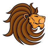 Majestic lion on white background. Vector illustration of majestic lion on white background Stock Photo