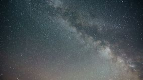 Majestic long-exposure time lapse shot of the Milky Way and Stars Galaxy.  stock video footage