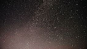 Majestic long-exposure time lapse shot of the Milky Way and Stars Galaxy.  stock footage