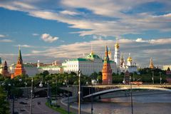 Majestic look to the Moscow Kremlin Royalty Free Stock Image