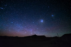 The majestic Magellanic Clouds Royalty Free Stock Photos