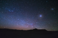The majestic Magellanic Clouds, Royalty Free Stock Image