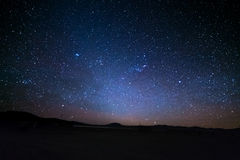 The majestic Magellanic Clouds, outstandingly bright, captured from the Andea highlands in Bolivia, South America. Stock Image