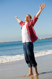 Majestic man. A majestic man with arms outstretched Stock Photography
