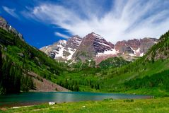 Majestic Maroon Bells Stock Photos