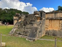 Majestic Mayan ruins in Chichen Itza,Mexico. Royalty Free Stock Photos
