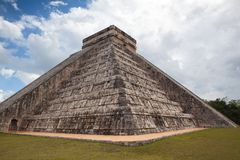 Majestic Mayan ruins in Chichen Itza,Mexico. Majestic ruins in Chichen Itza,Mexico.Chichen Itza is a complex of Mayan ruins. A massive step pyramid, known as El Stock Images