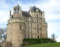 Majestic medieval castle. In France Royalty Free Stock Images
