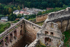 Majestic medieval castle  Saint-Ulrich on the top of the hill Royalty Free Stock Photos