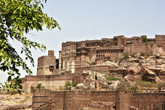 Majestic Mehrangarh Fort in Jodhpur, India Stock Images