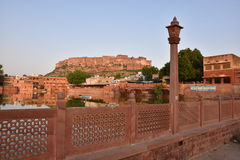 Majestic Mehrangarh Fort located in Jodhpur, Rajasthan, is one of the largest forts in India. Built around 1460 by Rao Jodha (Mandore Ruler King Royalty Free Stock Image